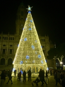 Christmas tree in the main square